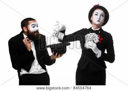 Memes As Businesswoman And Businessman Counting Money