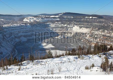 Quarry on the site of Mountain High. Nizhny Tagil. Sverdlovsk region. Russia.