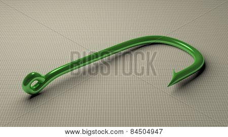 Green Fish Hook