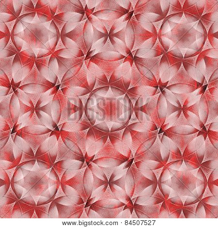 Geometric Pattern In Red Colors