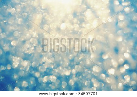 Frosty Bokeh Glitter Sparkle Abstract Background