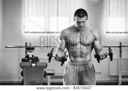 Dumbbell exercises.