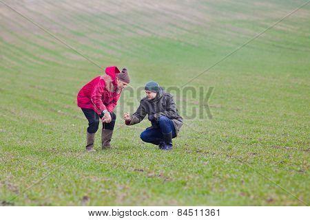 Farmers With Seedlings