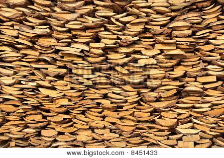 Background from a rural woodpile