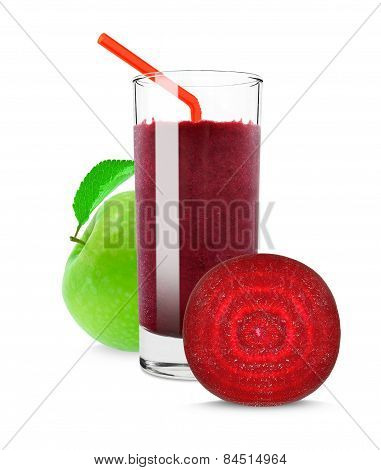 apple juice and beetroot