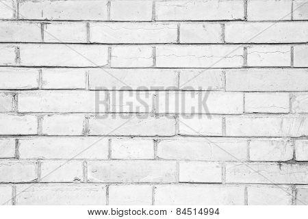 White Brick Wall Pattern Background
