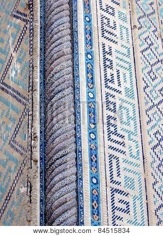 Samarkand Bibi-khanim Detail Of Decoration