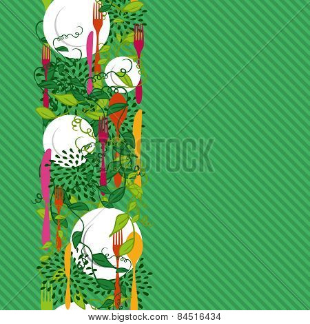 Kitchen Food Seamless Pattern Concept