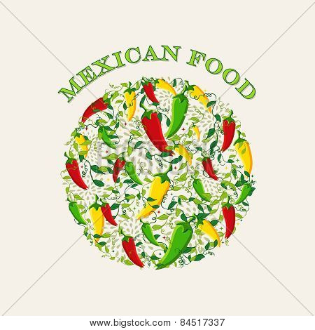 Mexican Food Concept Illustration Background