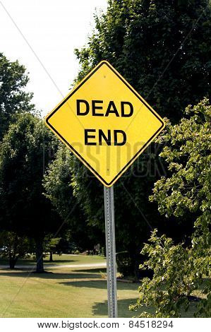 Vertical DEAD END Sign