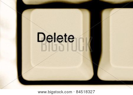 Delete Key On Computer Keyboard