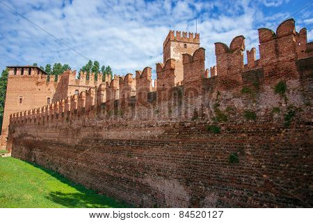 Old Castle Walls In Verona