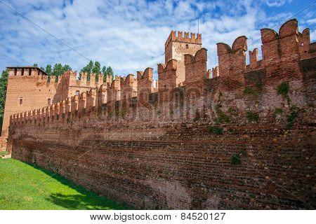 Old Castle Walls In Verona