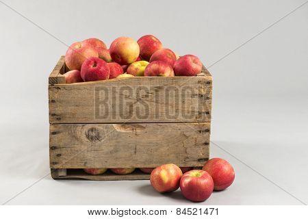 Woodern Crate Full Of Apples