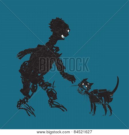 Alien And Cat