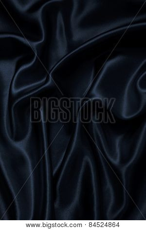 Smooth Elegant Black Silk As Background