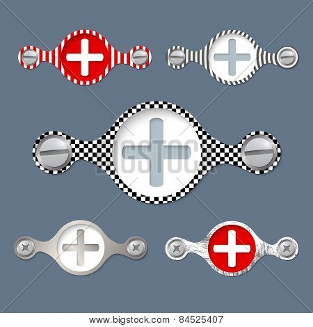 Five Abstract Vector Objects