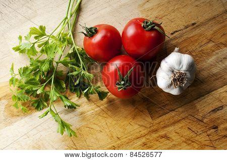 Tomatoes Garlic And Parsley