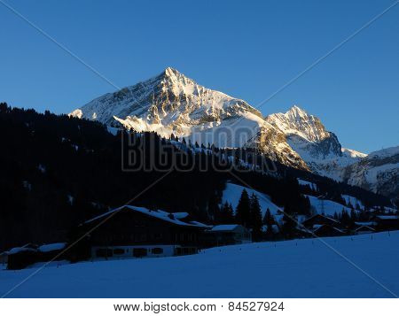 Spitzhorn At Sunset