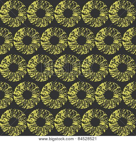 Hipster yellow and gray background with grungy torus.