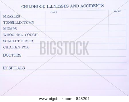 Childhood illnesses