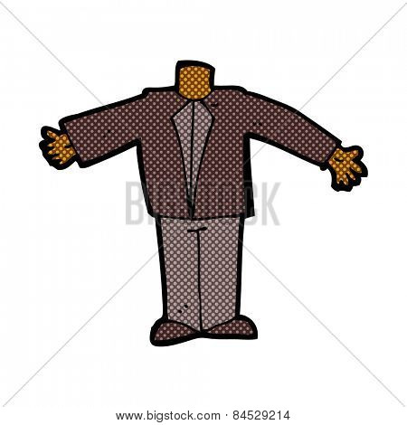 retro comic book style cartoon body in suit (mix and match retro comic book style cartoons or add own photos)