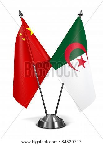 China and Algeria - Miniature Flags.