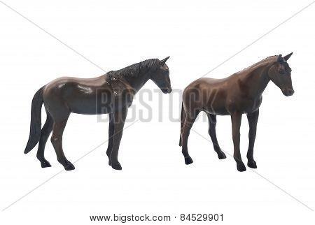 Dark brown horse toy.