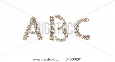 Abc Written With Small Cubes