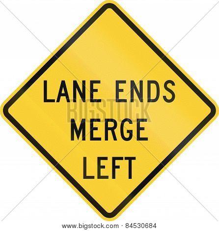 Lane Ends - Merge Left
