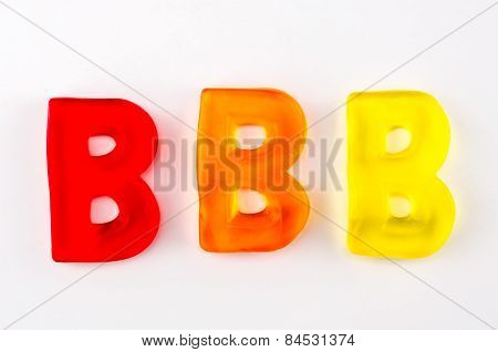 Gummy Letters B