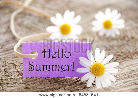 Purple Label with Hello Summer