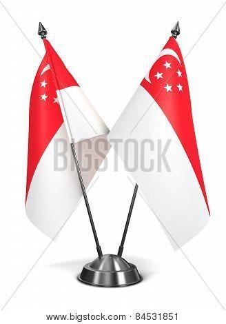 Singapore - Miniature Flags.
