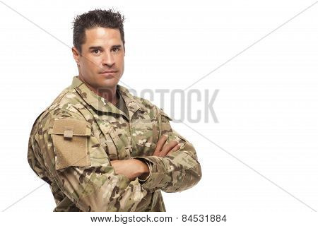 Portrait Of Army Soldier