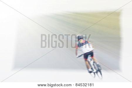Blur Riding Bicycle