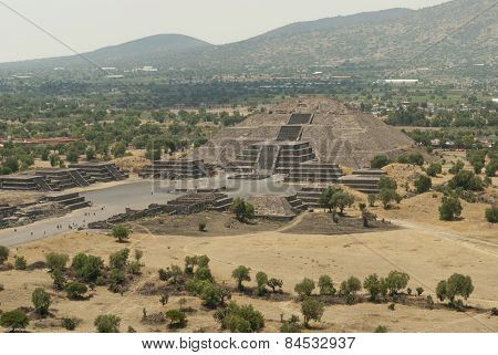 Pyramid Of The Moon In Teotihuacan Mexico