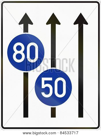 Three Lanes With Minimum Speed