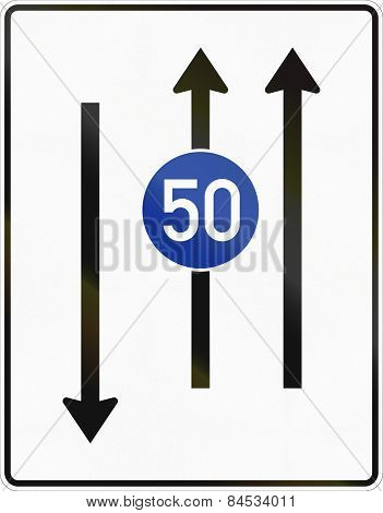 Two Lanes With Minimum Speed And Oncoming Traffic