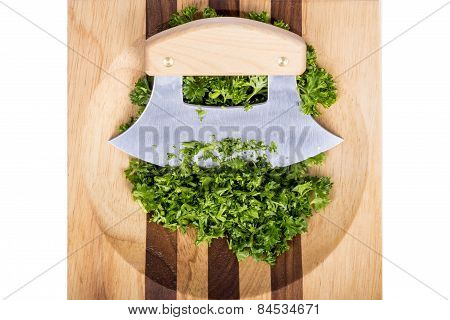 Ulu Knife Chopped Parsley