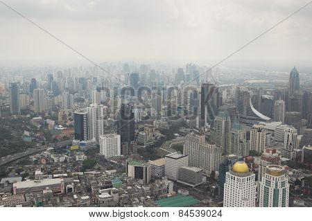 Smog Over Bangkok In City Center