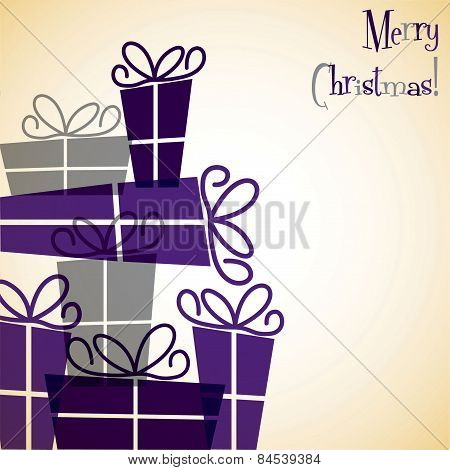 Christmas Present Overlay Card In Vector Format
