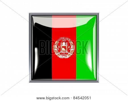 Square Icon With Flag Of Afghanistan