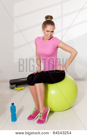 Woman With Hip Pain During Workout