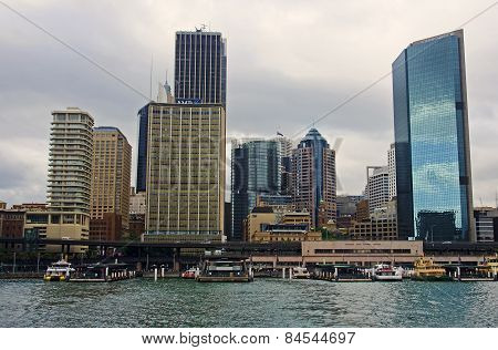 Sydney, Australia.. - December 2014: Circular Quay In Sydney On