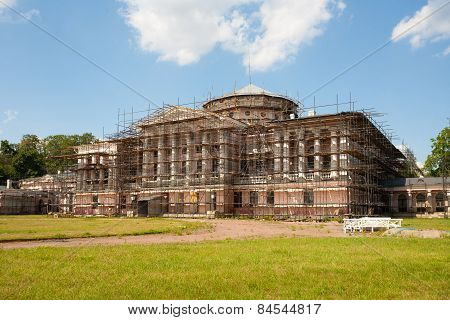 Ostankino Palace Under Reconstruction