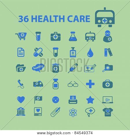 health care, medicine, hospital flat isolated concept design icons, symbols, illustrations on background for web and applications, vector