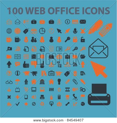 100 website internet flat isolated concept design icons, symbols, illustrations on background for web and applications, vector