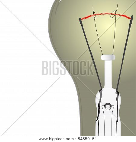 Light Bulb, Vector Illustration.