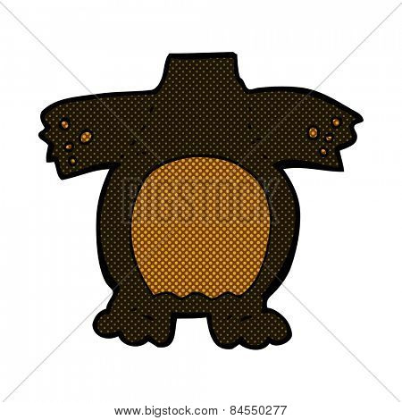 retro comic book style cartoon black bear body (mix and match retro comic book style cartoons or add own photos)