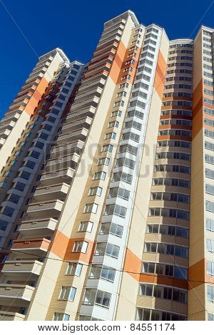 Modern Multistory Residential Buildings In Moscow, Russia